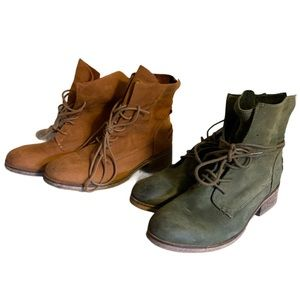 Hibou Suede Booties (2 Pairs) - Women's Size 37